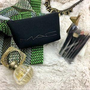 M.A.C. Cosmetics Bag and Brush Set - Scuba - NWOT